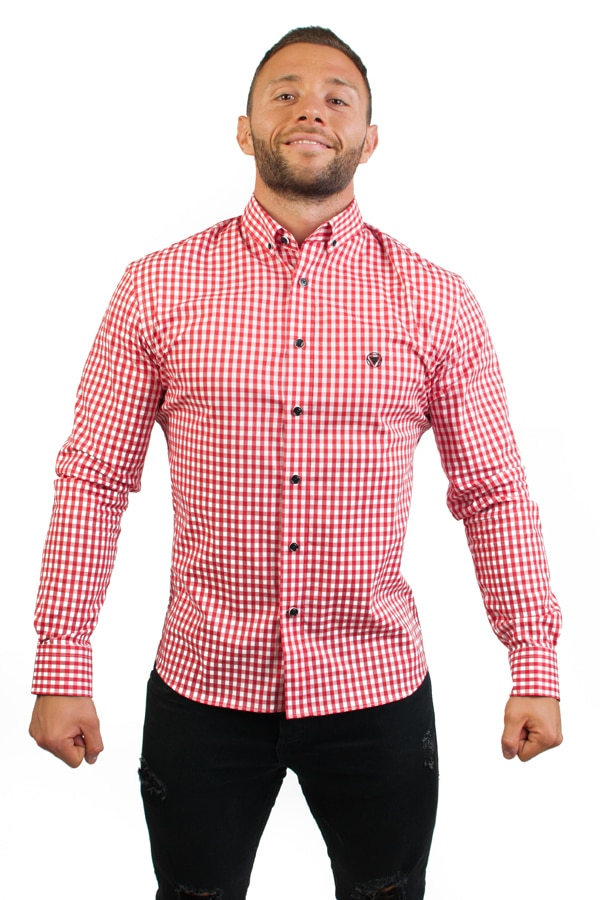camisa canone clothing red squares 1