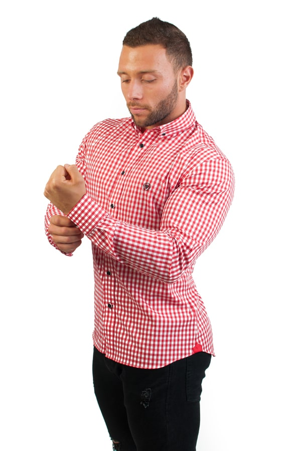 camisa canone clothing red squares 2