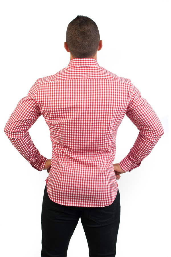 camisa canone clothing red squares 4