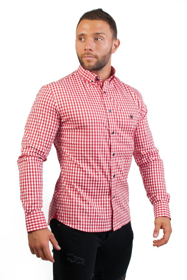 camisa canone clothing red squares 5