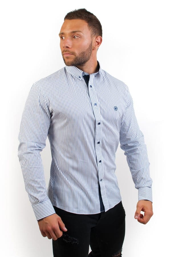 camisa canone clothing blue lines 2