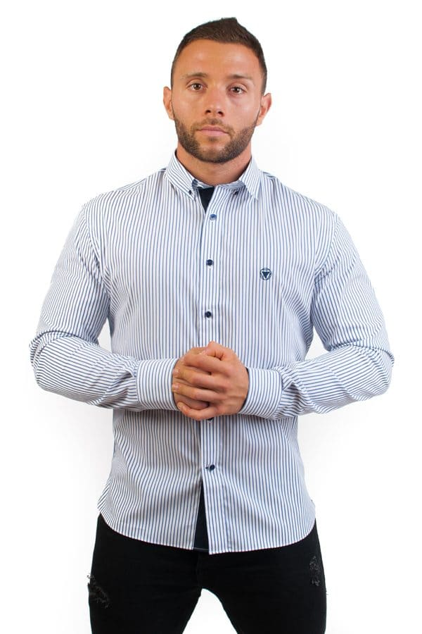 camisa canone clothing blue lines 3