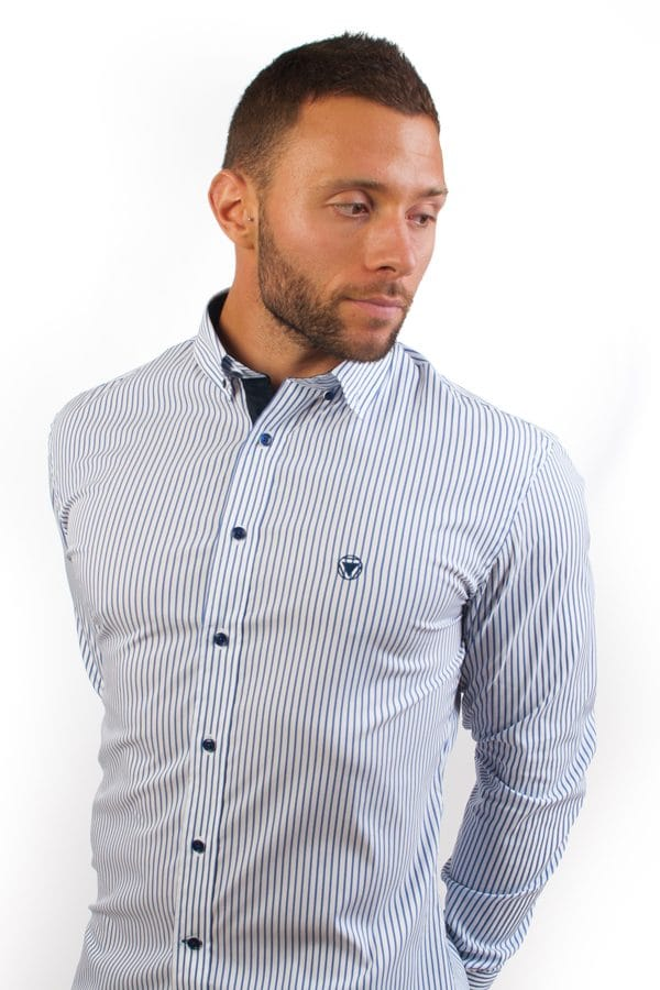 camisa canone clothing blue lines 5